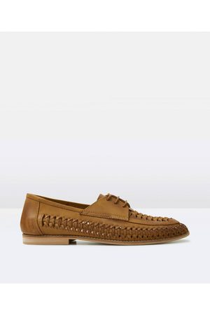 Arvust Elliston Lace Up Loafer Tan