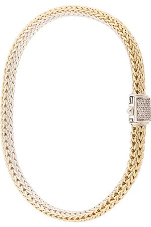 John Hardy Women Bracelets - 18kt yellow and sterling silver reversible Classic Chain diamond bracelet