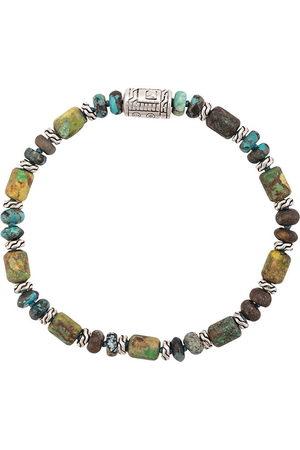 John Hardy Men Bracelets - Silver Classic Chain Mixed Turquoise Bead Bracelet