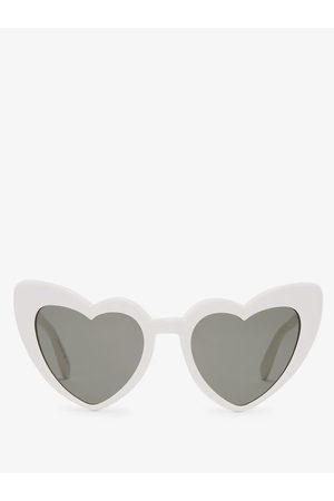 Saint Laurent Loulou Heart Shaped Acetate Sunglasses - Womens