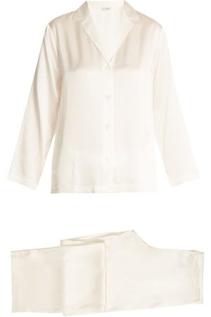 La Perla Silk Satin Pyjama Set - Womens - Ivory