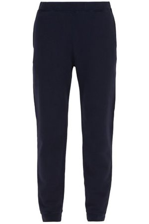 Sunspel Loopback Cotton-jersey Track Pants - Mens - Navy