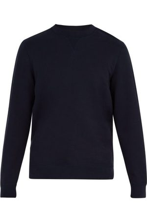 Sunspel Men Sweatshirts - Crew-neck Cotton-jersey Sweatshirt - Mens - Navy
