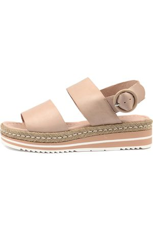Django & Juliette Women Flat Shoes - Atha Nude Sandals Womens Shoes Casual Sandals Flat Sandals