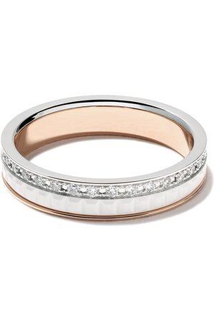 Boucheron 18kt white and rose Diamond Quatre White band ring