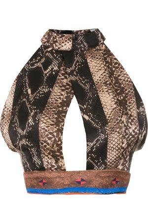 AMIR SLAMA Silk cropped top