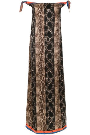 AMIR SLAMA Off the shoulder long dress