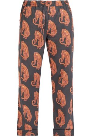 Desmond & Dempsey Sansindo Tiger Print Cotton Pyjama Trousers - Mens