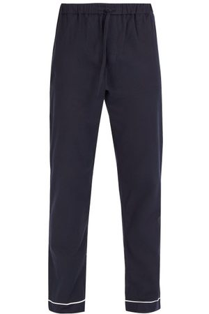 Desmond & Dempsey Desmond Cotton Pyjama Trousers - Mens - Navy