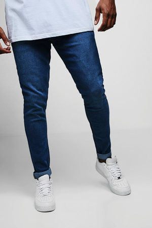 Boohoo Mens Plus Size Slim Fit Washed Jeans