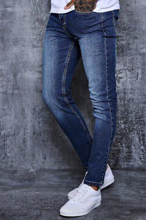 Boohoo Mens Mid Wash Skinny Fit Jeans