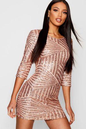 Boohoo Women Bodycon Dresses - Boutique Sequin Bodycon Dress- rose