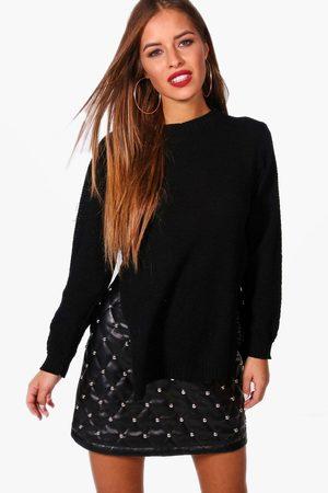 Boohoo Petite Side Split Tunic Sweater