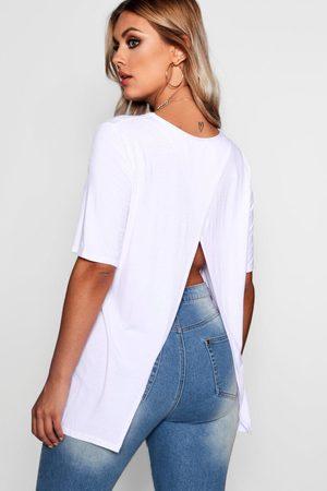 Boohoo Plus Jersey Split Open Back T-Shirt