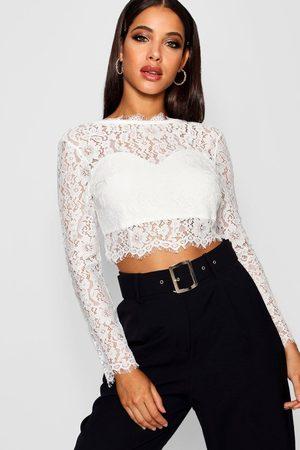 Boohoo Premium Lace Crop Top