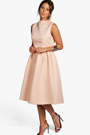 Boohoo Women Dresses - Boutique High Neck Prom Dress