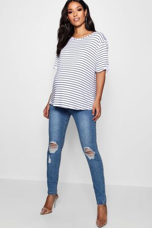 Boohoo Maternity Over The Bump Skinny Jeans