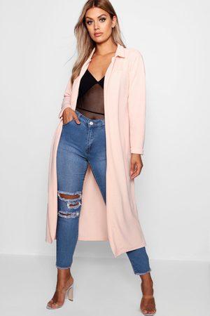 Boohoo Women Raincoats - Plus Crepe Longline Duster