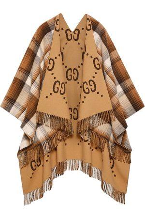 Gucci Reversible GG wool poncho