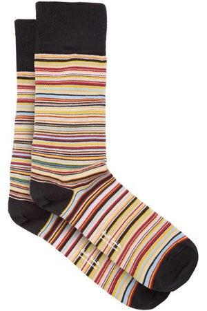 Paul Smith Signature Stripe Cotton-blend Socks - Mens - Multi