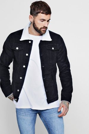 Boohoo Mens Cord Jacket With Borg Collar