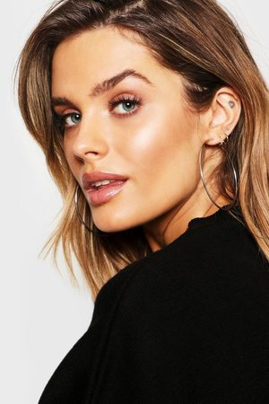 Boohoo Plain 6.5cm Hoop Earrings