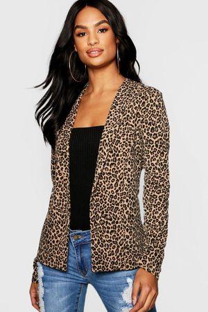 Boohoo Tall Leopard Print Blazer