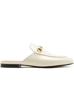 Gucci Princetown Leather Backless Loafers - Womens