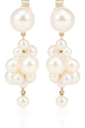 SOPHIE BILLE BRAHE Botticelli 14kt gold earrings with pearls