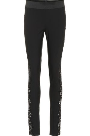 Stella McCartney Women Skinny Pants - Lace-trimmed skinny pants