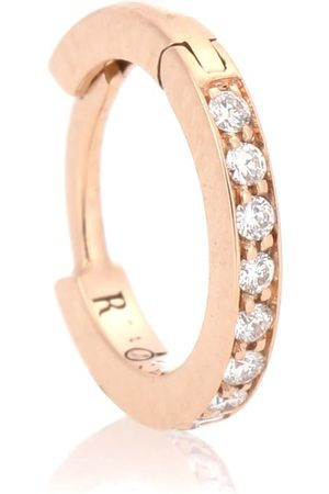 Repossi Mini Créole 18kt rose single earring with diamonds