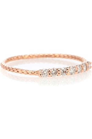 JACQUIE AICHE Vintage Waif 14kt rose diamond ring