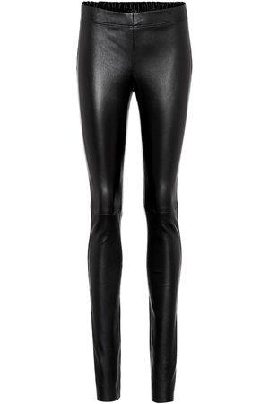 Joseph Mid-rise leather pants