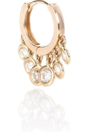JACQUIE AICHE Mini Shaker 14kt and diamonds single hoop earring