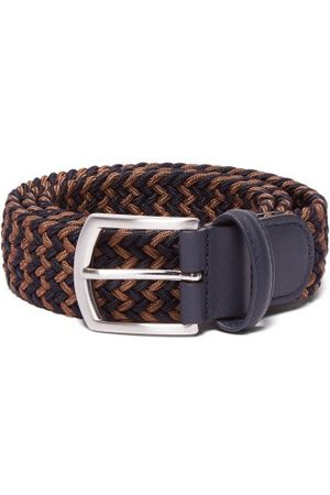 Anderson's Woven Elasticated Belt - Mens - Navy/dk Olive