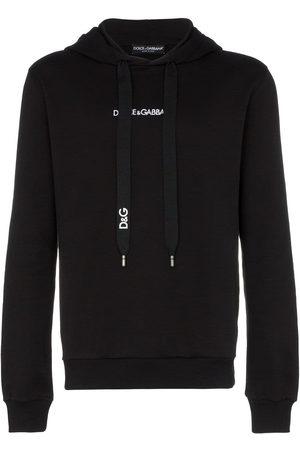 Dolce & Gabbana Logo embroidered hooded jumper
