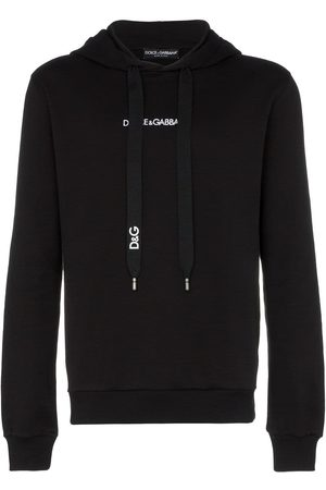 Dolce & Gabbana Men Hoodies - Logo embroidered hooded jumper