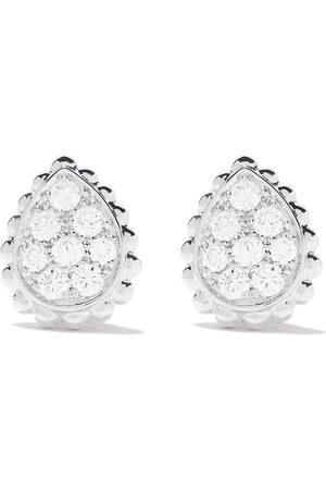 Boucheron 18kt white gold Serpent Bohème diamonds XS motif teardrop stud earrings