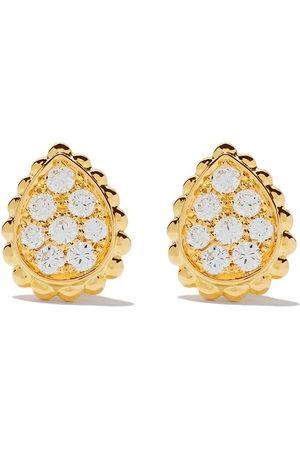 Boucheron 18kt yellow gold Serpent Bohème diamonds XS motif teardrop stud earrings
