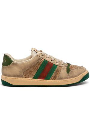 Gucci Screener Gg Supreme Leather Trainers - Mens - Multi