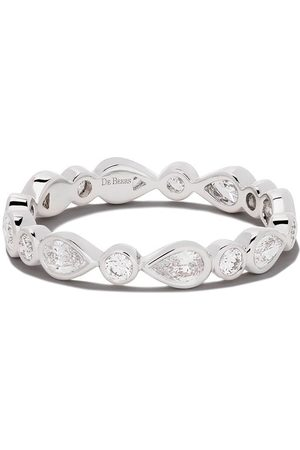 De Beers 18kt Petal diamond band