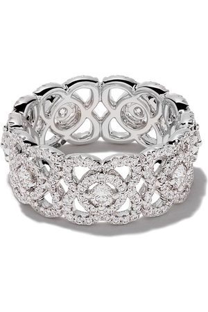 De Beers 18kt Enchanted Lotus diamond band