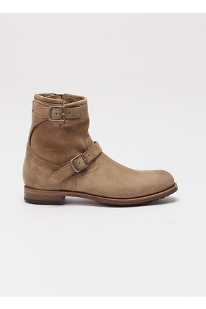 PROJECT TWLV Lowrider' buckled suede boots