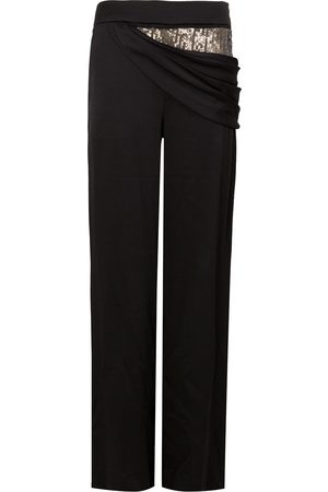 MONSE Sequin embellished draped trousers