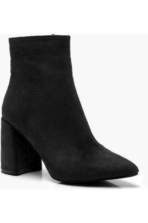 Boohoo Block Heel Shoe Boots