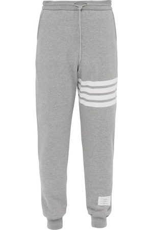 Thom Browne Striped Cotton Track Pants - Mens - Light