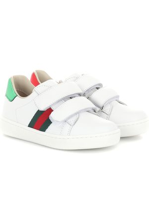 Gucci Web leather sneakers