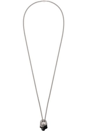 Alexander McQueen Men Necklaces - And silver divided skull necklace