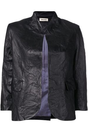 Zadig & Voltaire Creased effect leather jacket