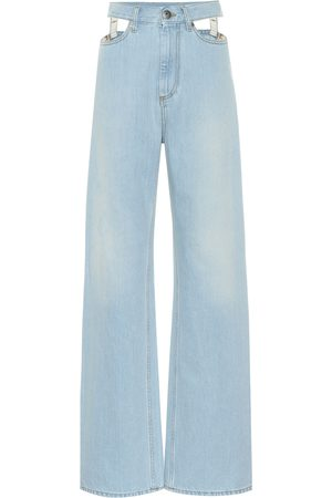 Maison Margiela Cutout high-rise wide-leg jeans